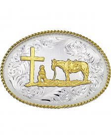 Montana Silversmiths 1340 Series Christian Cowboy Western Belt Buckle