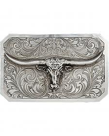 Montana Silversmiths The Story Longhorn Western Belt Buckle