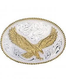 Montana Silversmiths Silver Engraved Small Eagle Western Attitude Belt Buckle