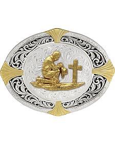Montana Silversmiths High Plains Cardinal Points Christian Cowboy Belt Buckle