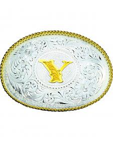 Montana Silversmiths Engraved Initial Y Western Belt Buckle