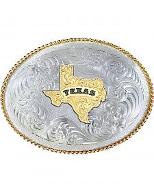 Montana Silversmiths 1350 Series German Silver State of Texas Belt Buckle