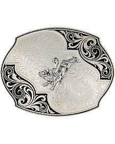 Montana Silversmiths Lace Whisper Flourish Bullrider Western Belt Buckle