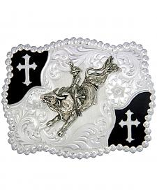 Montana Silversmiths Christian Flourish Bullrider Belt Buckle