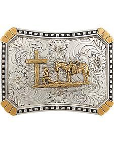 Montana Silversmiths CrossCut Heirloom Christian Cowboy Belt Buckle