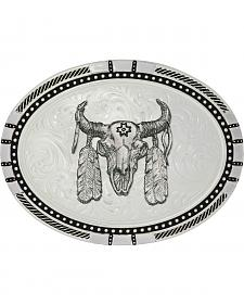 Montana Silversmiths New Traditions Four Directions Ceremonial Buffalo Skull Belt Buckle
