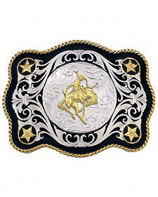 Montana Silversmiths Sheridan Style Bronc Rider Western Belt Buckle