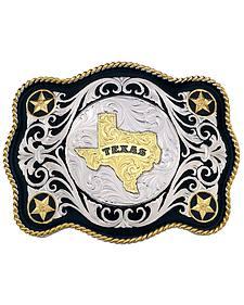Montana Silversmiths Sheridan Style Texas State Western Belt Buckle