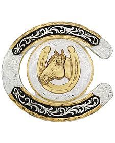 Montana Silversmiths Horseshoe Western Belt Buckle