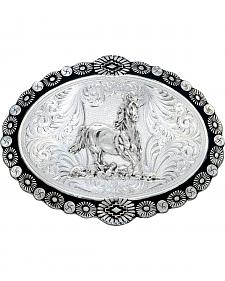 Montana Silversmiths Galloping Horse Western Belt Buckle