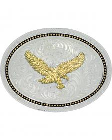 Montana Silversmiths Golden Star Light Oval Golden Eagle Belt Buckle