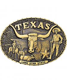 Montana Silversmiths Texas Cowboys State Heritage Attitude Belt Buckle