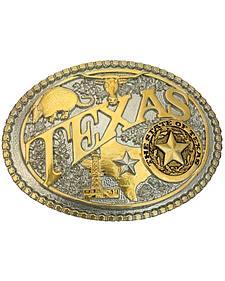 Montana Silversmiths Two-Tone Texas State Heritage Attitude Belt Buckle