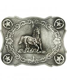 Montana Silversmiths Running Horse Classic Antiqued Attitude Belt Buckle