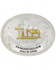 Montana Silversmiths Faith & Wisdom Christian Cowboy Western Belt Buckle