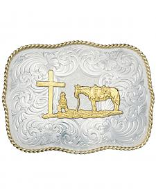 Montana Silversmiths Christian Cowboy Fancy Belt Buckle