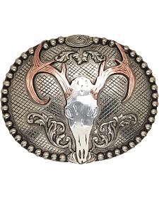 AndWest Congaree Vintage Deer Skull Belt Buckle