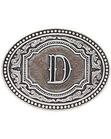 "Montana Silversmiths Men's Initial ""D"" Two-Tone Attitude Belt Buckle"