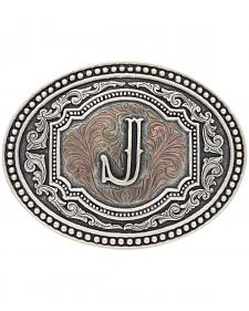"Montana Silversmiths Men's Initial ""J"" Two-Tone Attitude Belt Buckle"