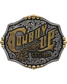 Montana Silversmiths Men's Classic Two Tone Cowboy Up Buckle