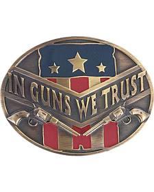 """Cody James Men's """"In Guns We Trust"""" Buckle"""