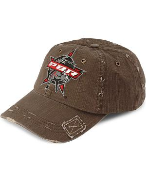 Black PBR Patch Distressed Cap