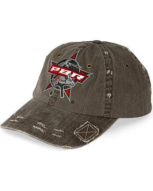 Black PBR Patch Distressed Cap