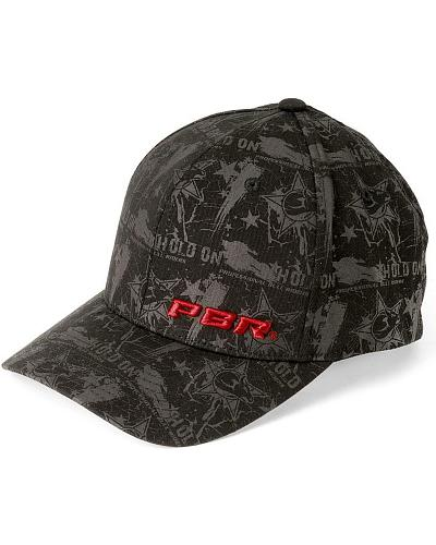 PBR Hold On Black Flexfit Cap Western & Country 15968-01