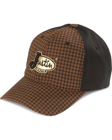 Justin Plaid Flex Fit Cap