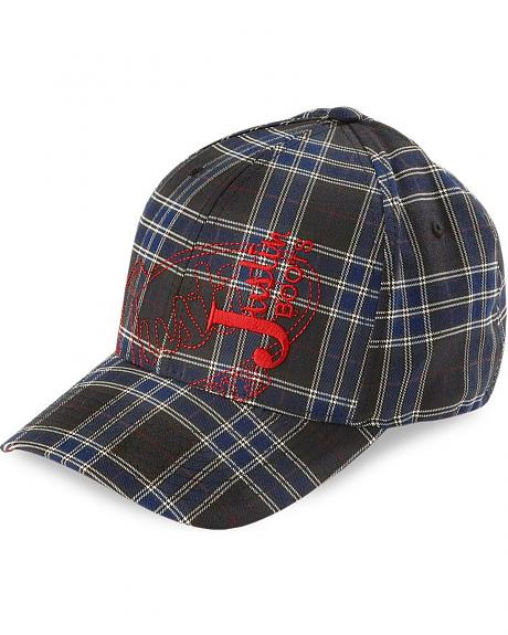 Justin Flex Fit All-Over Plaid Cap