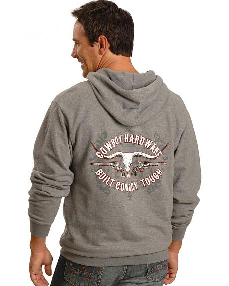 Cowboy Hardware Heather Grey Cowboy Tough Hoodie