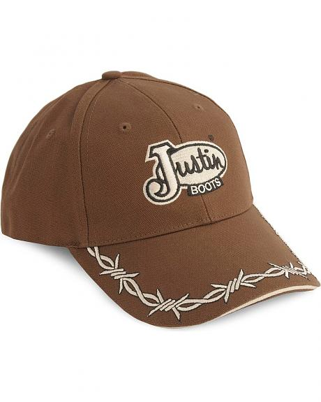 Justin Barbed Wire Embroidery Cap