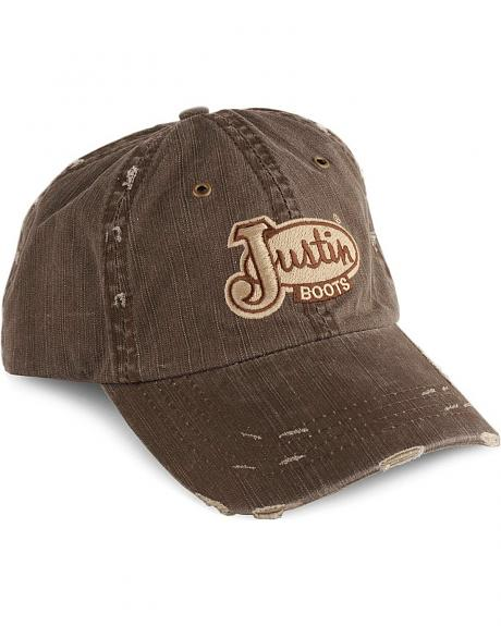 Justin Distressed Logo Patch Cap