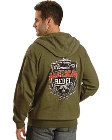 Cowboy Hardware American Rebel Green Zip-Up Hoodie