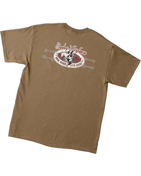 Cowboy Hardware 'Ride Hard Live Hard' Barbwire Short Sleeve T-Shirt