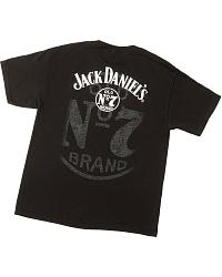 S/S T-Shirt Wrangler Jack Daniel's Black at Sheplers