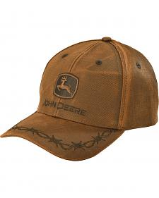 John Deere Oilskin Look Patch Casual Cap