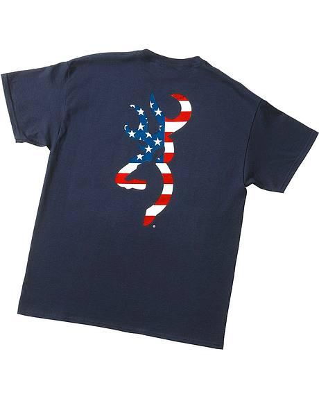 Browning Buckmark Patriotic T-Shirt