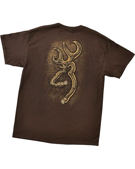 Browning Buckmark Rope Brown Logo T-Shirt
