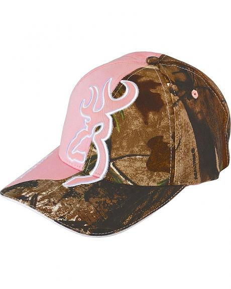 Browning Realtree Camouflage & Pink Buckmark Cap