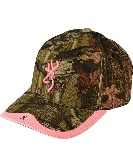 Browning Gunner Camo Pink Buckmark Embroidered Cap