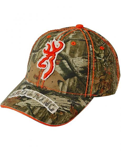 Browning Realtree Camouflage with Orange Buckmark Cap