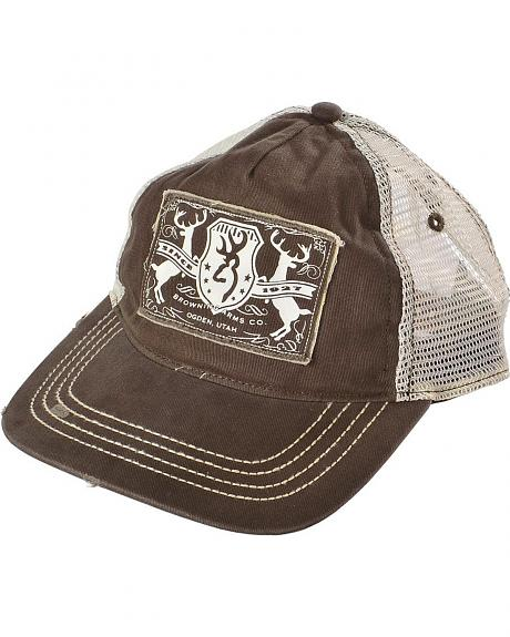 Browning Logo Applique with Mesh Back Cap