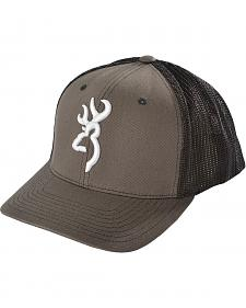 Browning Charcoal Grey Buckmark Flex Fit Cap - S/M