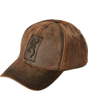 Sheplers Exclusive - Browning Logo Oilskin Cap