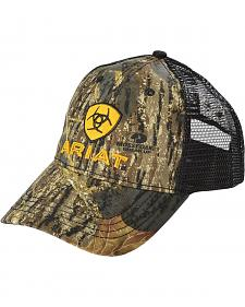 Ariat Camo and Yellow Logo Ballcap