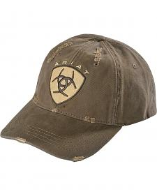 Ariat Distressed Logo Patch Cap