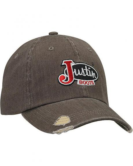 Justin Logo Distressed Cap