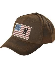 Browning American Flag Buckmark Logo Cap
