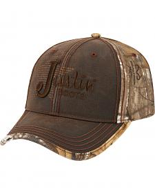 Justin Realtree Camo Wax Cloth Cap